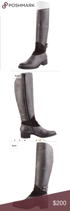 $480 Cordani Wilton leather boots with suede Gorgeous never worn. True to size. The brand is Cordani. Very similar to frye. They're a cool grey with a slight blue undertone. Really neutral. Made in Italy. Additional photos in my closet. Frye Shoes Winter & Rain Boots