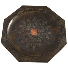 Art Deco Large Copper and Silver Dinanderie Tray by Claudius Linossier