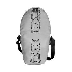 Belgian Tervuren Dog Cartoon Messenger Bags