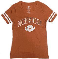 Ladies Texas Longhorns Orange Monroe V-Neck T Shirt Orange Texas, Texas Longhorns, V Neck T Shirt, Fan, Sweatshirts, Mens Tops, Jackets, Women, Style