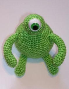 """Crochet Amigurumi One Eyed Green Monster"" #Amigurumi  #crochet"