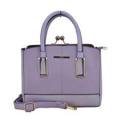 Chic Frame Clasp Lock Purple Handbag
