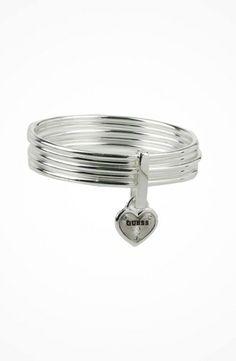 GUESS Framed Heart Link Bracelet #accessories  #jewelry  #bracelets  https://www.heeyy.com/guess-framed-heart-link-bracelet-silver/