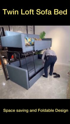 Folding Furniture, Built In Furniture, Bedroom Furniture Design, Smart Furniture, Space Saving Furniture, Home Decor Furniture, Diy Bedroom Decor, Furniture Projects, Space Saving Beds