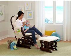 Storkcraft Bowback Glider Rocker Ottoman Nursery Room Rocking Chair Furniture #Storkcraft