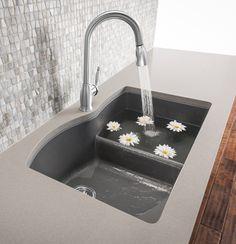 #BLANCO DIAMOND Low divide sink are 80% solid granite - Google Search