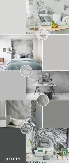 gray in PIXERS.US ✓ Eco-Friendly ✓ Online Configuration ✓ We will help you choose a pattern! Self Adhesive Wallpaper, Rainbow Colors, Wall Murals, Color Schemes, Patterns, Gray, Interior Design, Deco, Inspiration