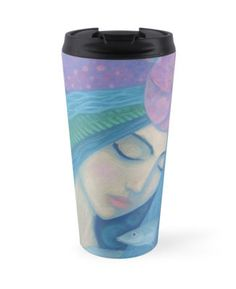 """""""The Pearl, Mermaid Princess, underwater fantasy art"""" Travel Mugs by clipsocallipso 
