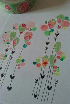 """Une carte aux couleurs """"leontineeteugene"""""""