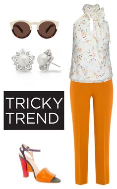 """""""Untitled #508"""" by alison-tann ❤ liked on Polyvore featuring Etro, City Chic, Fendi, Allurez, Illesteva, TrickyTrend, highneckblouse and plus size clothing"""