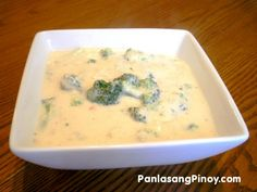 Here is another vegetable soup recipe that you might be interested in. Cheesy Broccoli soup is a thick soup made from chopped broccoli, fresh milk, and grated sharp cheddar cheese.    I like the taste of melted cheese combined with milk while the presence of broccoli assures m