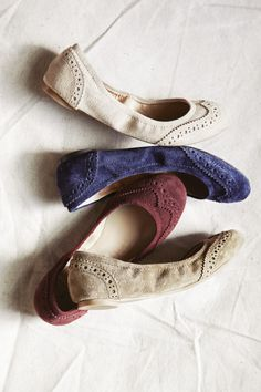 Suede Ballet Flats, casual look to walk