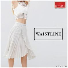 If tops and dresses taper in or have seams on the waistline, make sure it lines up with your actual waist. Shopping Tips, Lineup, Mumbai, Style Guides, High Waisted Skirt, Ballet Skirt, Skirts, How To Make, Tops