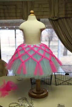 Criss-cross tulle tutu tutorial - adorable DIY girls' skirt for fancy dress-up, wedding flower girl, or costume!