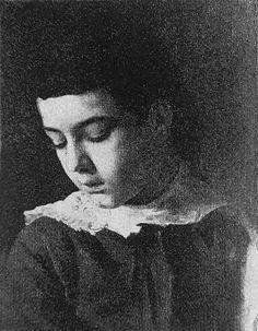 Head of a girl, 1883 by Gustav Klimt