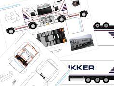 Bouwplaat van je Volvo FH met Fliegl trailer – bouwplaatvanjeeigentruck.nl Paper Models, Volvo, Van, Meet, Paper, Paper Templates, Vans, Card Templates