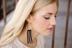 Hoop Tassel Dangle Earrings