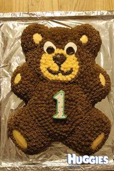 Made this for my son's 1st Birthday, he loved (and still does) all soft toys and had a particluar soft spot for a giant teddy he'd been given (1m tall). So we made a cake version ::)