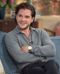 Getting honest: Game Of Thrones' Kit Harington spoke out about his debilitating pre-stage habits on Thursday's This Morning, as he revealed he was loose-lipped about Jon Snow plot
