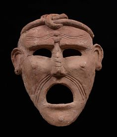 Mask date: 3rd—2nd century BCheight: 50 cmmaterial: terracottafound at: Carthage collection: Musée national de Carthage, Tunesiaphoto: Rijksmuseum van Oudheden