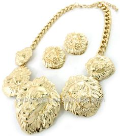 Cheap Chunky Cowgirl Jewelry | Chunky Jewelry Fashion Lion Pendant Costume Jewelry Sets - Buy Jewelry ...