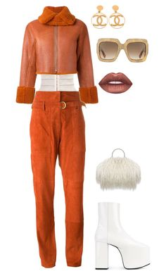 """""""The Get up"""" by domyenn ❤ liked on Polyvore featuring adidas Originals, Balenciaga, Chanel, Gucci, Lime Crime and Vanessa Bruno"""