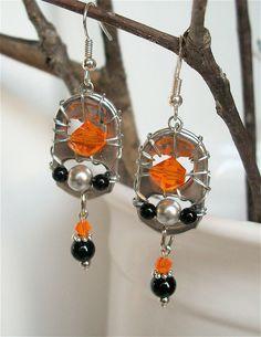Beaded Soda Tab Earrings - Team Spirit Earrings