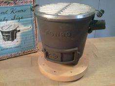Sweet Vintage Japanese Konro Mini Cast Iron Portable Hibachi BBQ Grill In  Box $69.95
