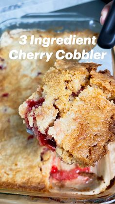 Cherry Desserts, Cherry Recipes, Blueberry Recipes, Easy Desserts, Delicious Desserts, Yummy Food, Cherry Dump Cakes, Apple Recipes For Kids, Apple Dessert Recipes