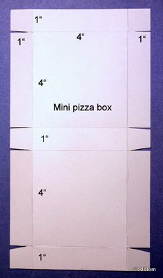 Rapport från ett skrivbord: Pyssloteket - mini pizza box - decorate the top for gift box
