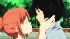 Eden of the East, one of my all time favorite kiss scenes!