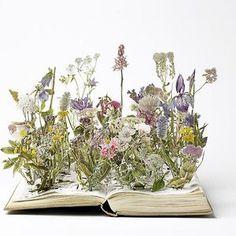 Herb Garden Book Sculpture