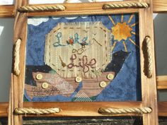 Lake Life embroidery scene framed rustic can go by rusticrevivals, $38.00