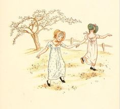 Little Ann, a book by Kate Greenaway 1880 - Plate 29