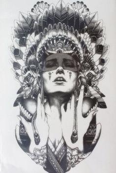 Ancient women keep the tears Size 22 x Brand New Body Art tatoo Temporary Tattoo Exotic Sexy Henna Tattoo Tattoo Stickers - Hespirides Gifts Neue Tattoos, Bild Tattoos, Ta Moko Tattoo, I Tattoo, Tattoo Flash, Fake Tattoo, Tattoo Wolf, Grey Tattoo, Tattoo Drawings