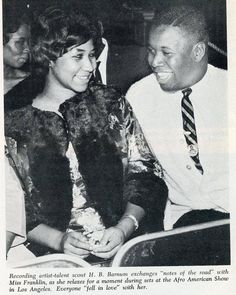 Aretha and H.Barnum, her musical director of 40 years, circa Thanks for the picture  Natalie Cole, Special Pictures, Black Celebrities, Black Families, Aretha Franklin, Soul Music, Motown, American Singers, Celebrity Pictures