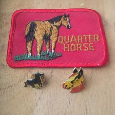 Vintage Deadstock Horse patch & pin pack
