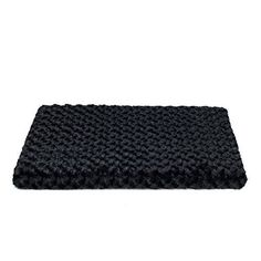 Orthopedic Dog or Cat Pet Bed Crate Pad Mat Plush Removable Cover 29 x 19 Medium Black >>> Read more reviews of the product by visiting the link on the image.