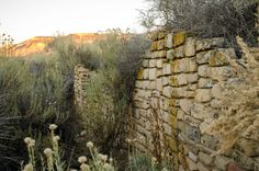 Yucca House Wall - ruin wall at Yucca House National Monument, Cortez, CO