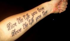 badass tattoos | lettering arm tattoos Arm Tattoo Designs