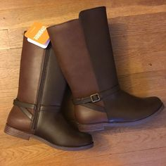 Gymboree Plum Pony Girls Brown Riding Boots Horse Back To Blooms Nwt size 8