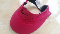 NEW Nike Visor Pink Womens Girls Ladies One Size Adjustable Sport Tennis Cap #Nike