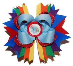 My Little Pony Rainbow Dash Large Boutique Bow by bowsalamode on Etsy