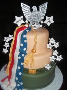 Eagle scout cake.My son just qualified for life! Im so proud once he is done he just has Eagle!!!! Yay