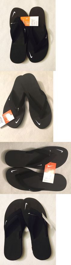 Sandals and Flip Flops 62107: New Nike Celso Girl Thong Black Flip Flops Sandals Women S Size 7 Ladies -> BUY IT NOW ONLY: $43.99 on eBay!