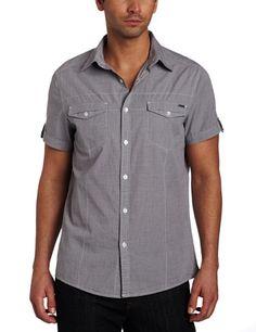 Kenneth Cole Men's Double Flap Pocket Woven Shirt
