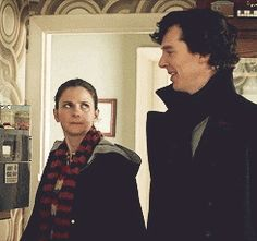 Molly Hooper fucking puts sherlock in his place with just this one fucking look like you go girl.