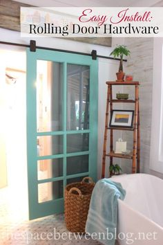 For the sliding porch doors Great step-by-step instructions for installing rolling door hardware. There are a few keys you need to look out for and this tutorial clears them up. Creation Deco, Ideias Diy, Barn Door Hardware, Door Hinges, Interior Barn Doors, My Dream Home, Home Projects, Home Improvement, Sweet Home