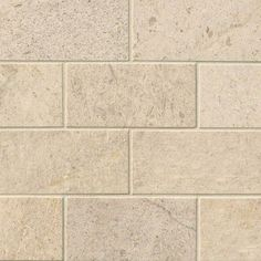 "oastal Sand Subway Tile 3"" x 6"" honed limestone tiles are a neutral, soothing shade of soft beige with natural variation. This natural stone tile is imported from Mexico, and is easy to maintain."