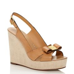 Kate Spade bow wedges.